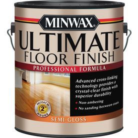 Minwax Ultimate Floor Finish Semi Gloss Water Based 128 Fl Oz Polyurethane 131020000 Floor Finishes Polyurethane Floors Minwax