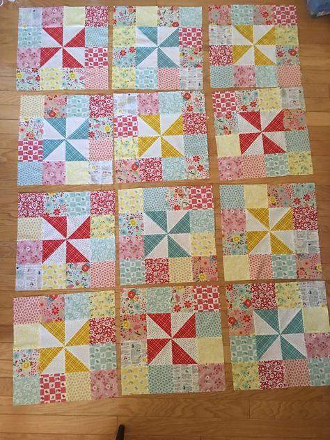 Pinwheels Patches Quilt Tutorial Patch Quilt Quilts Quilt