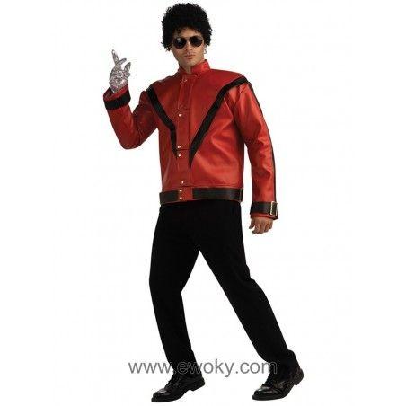 Chaqueta De Michael Jackson Thriller Deluxe Para Adulto 121 04 Incluye Chaquetano Incluye Peluca Gafas Guante Camiseta Michael Jackson Chaquetas Jackson