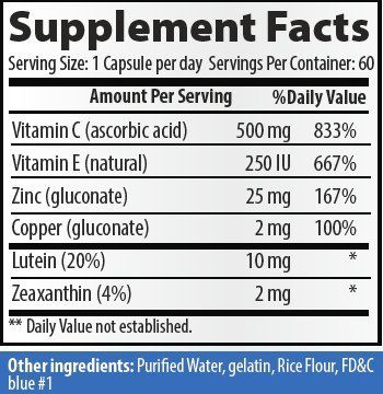 Optimal Eye Health Eye Vitamin And Mineral Supplement Areds 2 By Parker Naturals Packed With Vitamins C And E Lutein Zeaxa Eye Vitamins Lutein Eye Supplements