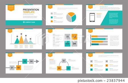 Set Of Presentation TemplateUse In Annual Report  Data Report
