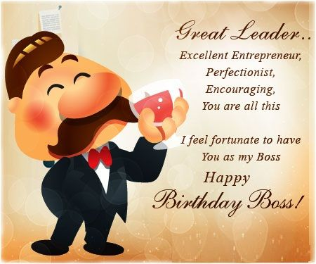 Happy Birthday Cards For Boss