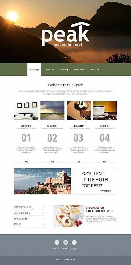 Hotels Most Popular Espresso Web Inspiration At Your Coffee Break Moto Cms Html Template 49036 Html Templates Online Web Design Web Design Software