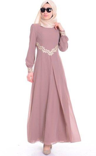 Sefamerve Tesettur Elbise Modelleri Yeni Kreasyon 2018 Moda Model Elbise Modelleri Cicekli Elbiseler Elbise