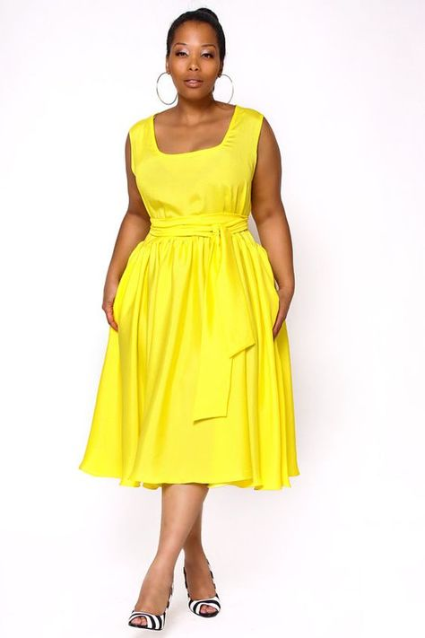 5 plus size yellow dresses for fun spring style | Style | Fashion ...
