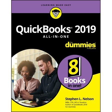 Quickbooks 2019 All In One For Dummies Paperback Walmart Com Quickbooks Personal Finance Finance