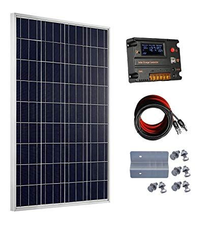 Eco Worthy 100 Watt 12v Solar Panels Kit 20a Charge Controller For Off Grid 12 Volt Battery System Review Rv Solar Panels Solar Energy Panels Solar Panels