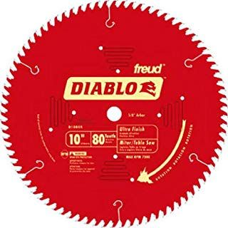 Freud D1080x Diablo 10 Inch 80 Tooth Atb Finish Saw Blade With 5 8 Inch Arbor And Permashield Coating Table Saw Blades Circular Saw Blades Saw Blade