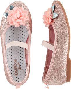 OshKosh Ballet Flats Glitter ballet flats, piger sko  Glitter ballet flats, Girls shoes