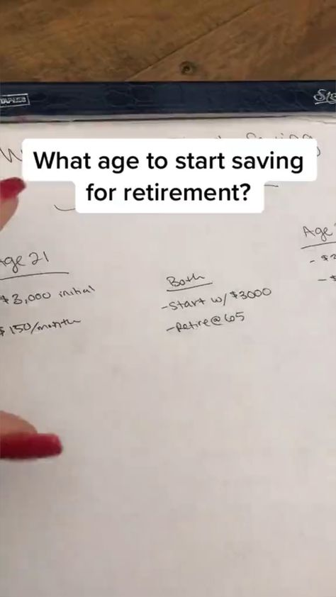 What Age to Start Saving for Retirement?