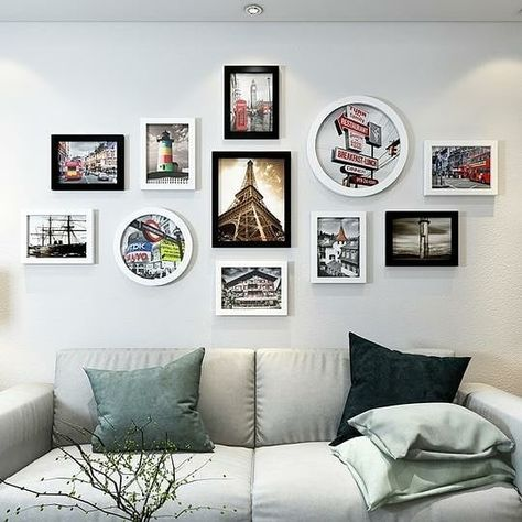 Is Your Home Festive Ready ? what Do You Think About This Marvellous Black And White 11 Pieces Wooden Photo Frame Set ?😊❤ Swipe Across For… Black And White Rectangular 11 Pieces Wooden Photo Frame Set With Picture Card And Installation Kit, available exclusively on Shahi Sajawat India, the world of home decor products.Best trendy home decor, living room and kitchen decor ideas of 2019.