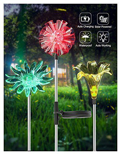 3 Yard Solar Garden Lights Outdoor Decorations Powered LED Flower Patio Lights