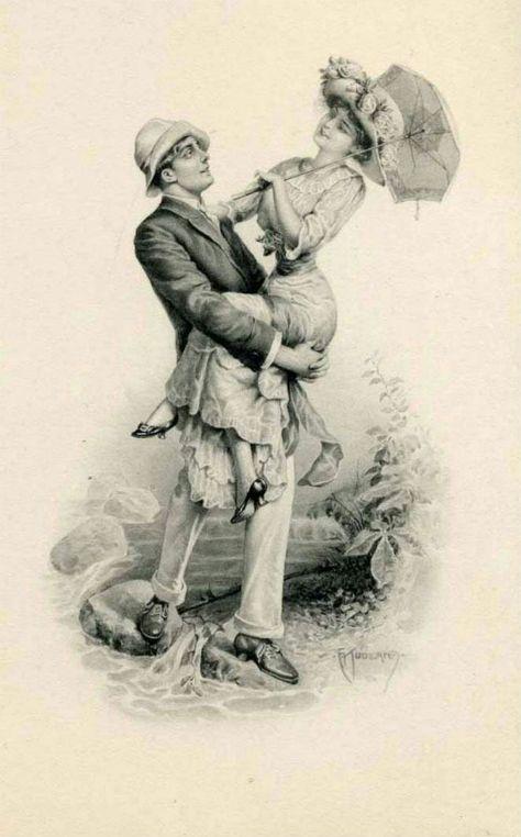 Надписями, открытки про любовь старые