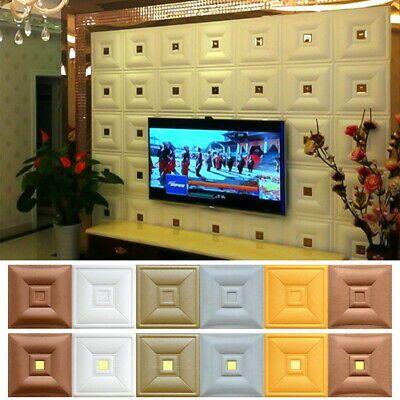 10PCS//PACK 3D Brick Wall Sticker Self-adhesive Waterproof Panels Wallpapers UK