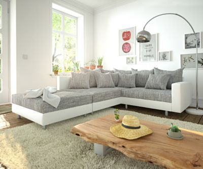 DELIFE Big-Sofa Sirpio 255x102 cm Anthrazit Vintage Kedernaht, Big