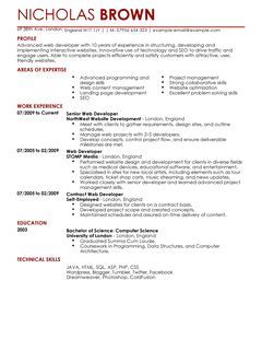 Junior Web Developer Resume Check More At Https Nationalgriefawarenessday Com 19525 Junior Web Developer Resume