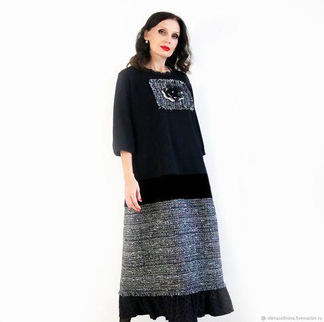 0bfcd6a49a4 Платье Осень Роза 5 +букле шанель – купить в интернет-магазине на Ярмарке  Мастеров с доставкой