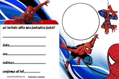 Festalandia E Festeland Spiderman Party Spider Man Inviti Di Compleanno Inviti Per Festa