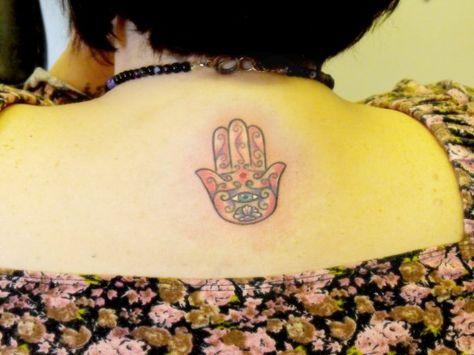 hamsa and eye jewish tattoo