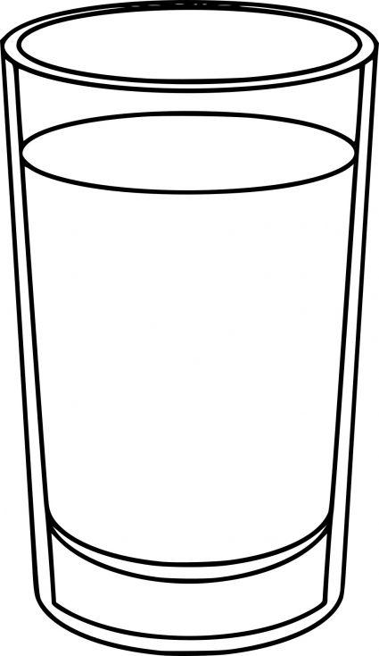 Verre D Eau En Anglais : verre, anglais, Verre, D'eau, D'eau,, Verre,, Coloriage