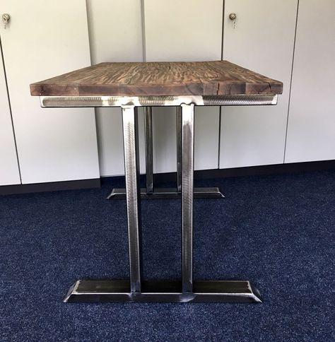 2er Set Tischbeine Stahl Design Tischkufen Sauletischgestell Tisch