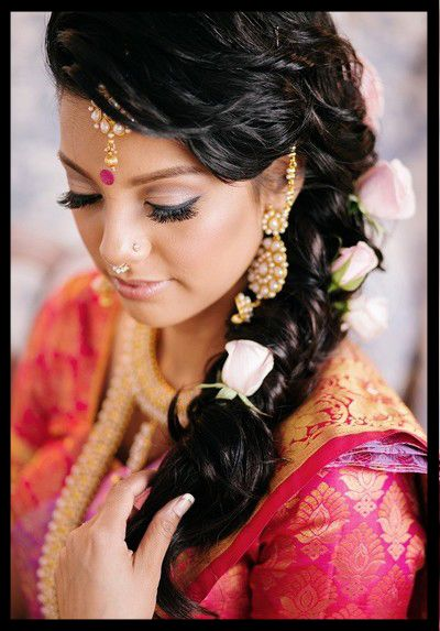 Top 41 Indian Bridal Hairstyles For Long Hair And Short