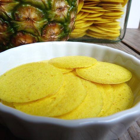 Obstblume.de - Knusprige zarte Ananas-Chips selbst herstellen