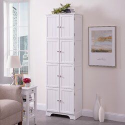 Vick Armoire Wood Storage Cabinets Accent Doors White Storage Cabinets