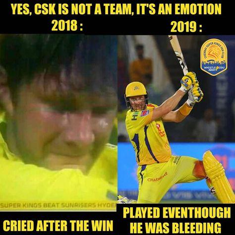 CSK is not just a Team, It's an Emotion 💛  #ShaneWatson  #WhistlePodu  #Yellove @srwatson33 @chennaiipl