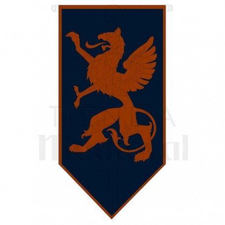 Estandarte Medieval Dragon Rampante Estandartes Medievales Dragones Medieval Espadas
