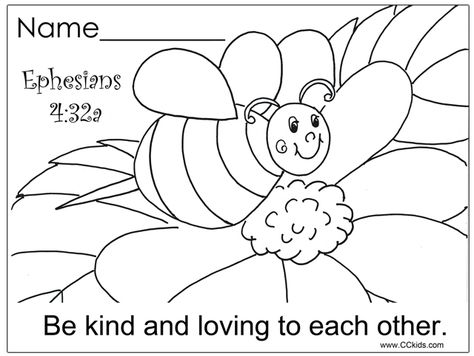 Bee Kind Coloring Page Sunday School Coloring Pages Sunday