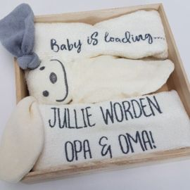 Nieuw Houten giftbox   hoera opa en oma   persoonlijk cadeau (met OI-04
