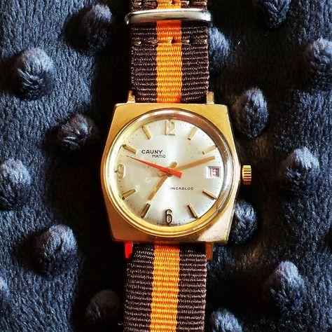 a490ca6608f6 Cauny Prima 30 Jewel Automatic w Date PIT 1957 (Cauny Prima s 30th  Anniversary Release)