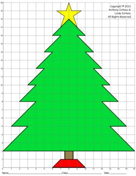 Christmas Tree Color Grid Star Mystery Picture Graph Paper Art Colorful Christmas Tree Mystery Pictures