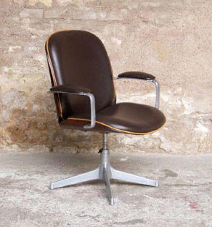 Chaise De Bureau Vintage Fauteuil De Bureau Vintage Ico Parisi Les Vieilles Choses Bureau Vintage Design Vintage Furniture