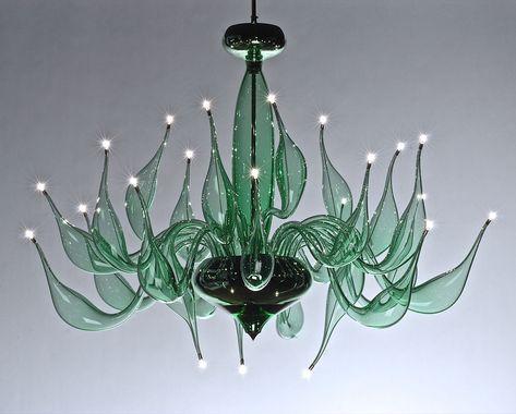 Lampadari In Vetro Soffiato.Lampadario Murano Moderno Lu 6 Verde Smeraldo In Vetro Soffiato Vetro Soffiato Lampadario In Vetro Design Della Lampada