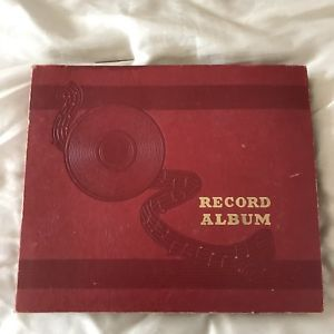 Red Record Album Book For 78 Rpm 10 Sleeves Nine 10 78 Rpm Records Included Ebay Vinyl Records Record Album 78 Rpm Records