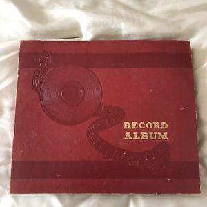 Red Record Album Book For 78 Rpm 10 Sleeves Nine 10 78 Rpm Records Included Ebay Vinyl Records Record Album 78 Rpm Records