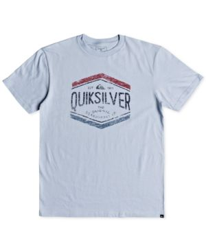 Quiksilver Men's Sketch Member Logo Graphic T-Shirt - Blue