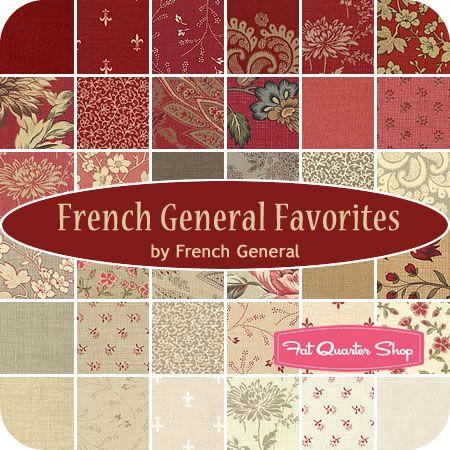 Josephine Warm Red 6 FQ Set by French General for Moda Fabrics ... : moda quilt fabric - Adamdwight.com