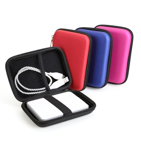 """2.5"""" External USB Hard Drive Disk Carry Mini Usb Cable Case Cover Pouch Earphone Bag for PC Laptop"""