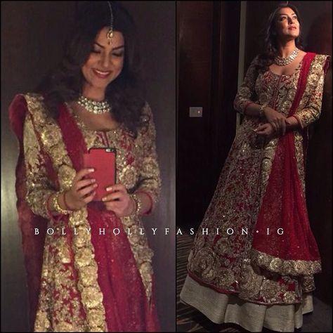 Sushmita Sen in @manishmalhotra05 outfit and... - BollyHollyFashion