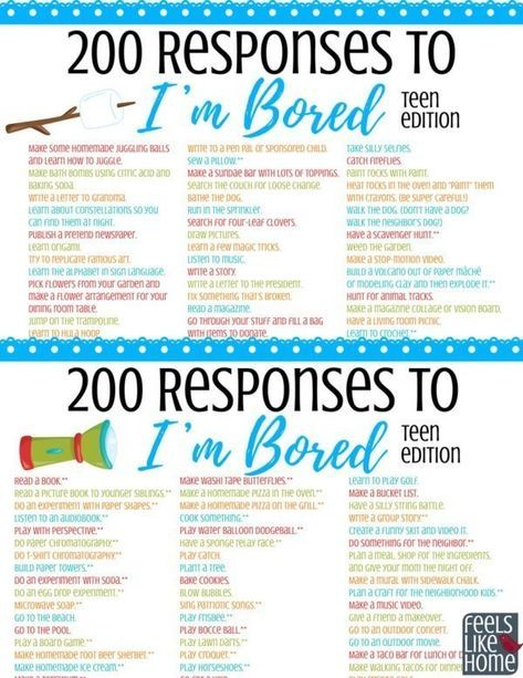 The Ultimate List Of Things For Tweens Teens To Do When They Re