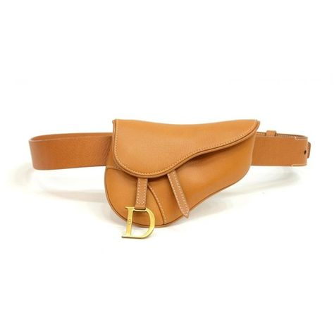 CHRISTIAN DIOR SADDLE FORM LEATHER WAIST PACK ❤ liked on Polyvore featuring bags, waist bag, leather fanny pack, fanny pack bags, bum bag and leather belt bag