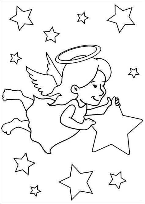 Ausmalbilder Weihnachten Engel Malvorlagen Fur Kinder Bastel