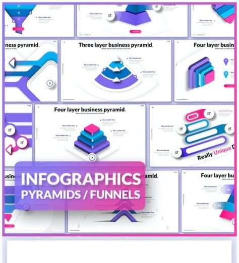 Infographics - Pyramids and Funnel Diagrams