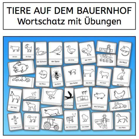Pin Von Kathi Auf Schule In 2020 Bauernhof Tiere Bauernhof Wortschatz