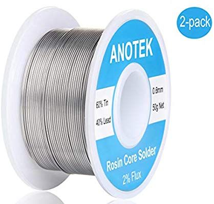 60 40 Tin Lead Rosin Core Solder Wire 0 6mm 0 11lbs For Electrical Solderding Electronics Gauge Wires Toys Stained Stained Glass Jewelry Solder Wire Soldering