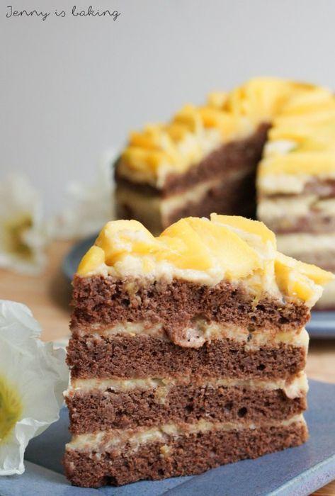 Vegane Mango Schoko Torte Rezept Mangokuchen Veganer Kuchen Und Vegan Backen
