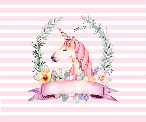 White Pink Striped Unicorn Theme Photography Backdrop Flower Girls Birthday Party Backgrounds For Photo Studio 7x5FT